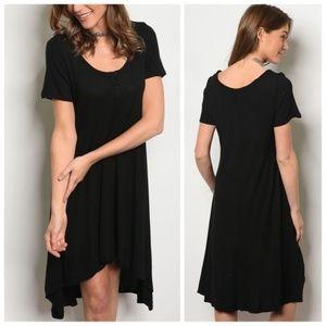 Black Jersey Tunic Dress